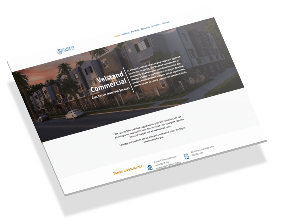 Web Design and Development for Velstand Commercial